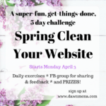 Free Spring Clean Your Website Challenge Starts April 3