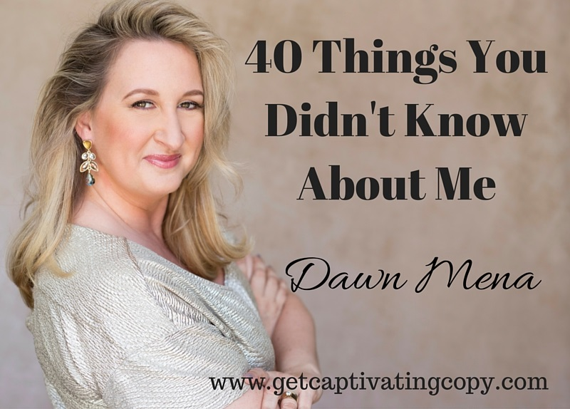 40 Things You Didn't Know About Me